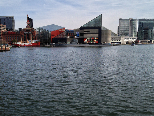 View of the National Aquarium, Baltimore Inner Harbor